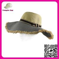Top quality Wide brim 100% paper raffia sombrero straw hat manufacturers wholesale