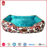 High quality 100% polyester hot sale plush dog beds