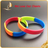hot sale swirled silicone wristband/printed silicone wristband
