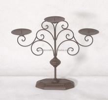 3 brazo caliente venta Florious negro de pie de Metal candelabro