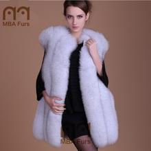 MBA Furs Supplier Russian Style Winter Fox Fur Vest For Women