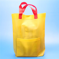 reusable EVA hand bags for shopping with pocket