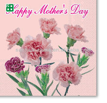 happy mother's day decorative paper napkins, mother's day decoration