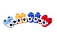 multi colors wholesale bear lovey kid handwork cotton shoe