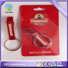 red color Can opener with Blister packaging, printed red color bottle can opener