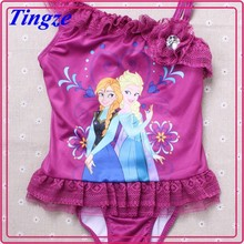 2015 sexy frozen anna elsa swimwear kids micro bikini swimwear girls models
