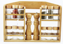 natural kitchen big bamboo glass spice bottle set