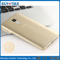 Clear crystal case for huawei honor 7, ultra transparent TPU case cover for huawei honor 7