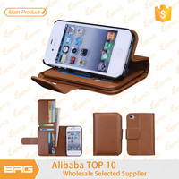 BRG Hot Selling Wallet Leather Case Cover for iPhone 4s