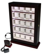wall mounted acrylic window LED display box/watch display box