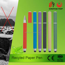 promotional logo print recycle eco paper ball pen
