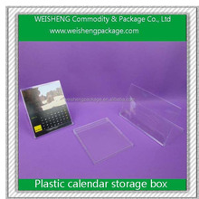 Fashion Trend Color Beautiful Plastic Boxes For calendar
