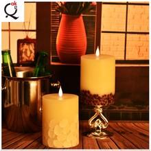 Navidad llama movimiento llevó velas marfil velas de cera sin llama de color LED /