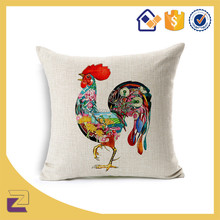 Wholesale Abstract Animal Cock Outdoor Car Seat Throw Pillow Cases Cushion Covers 18x18 Inch For Home Decorative
