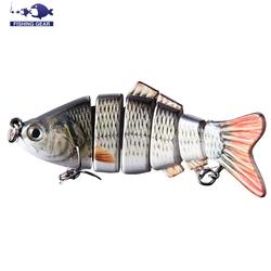 Lifelike 6 Segement Pike Muskie Fishing Lure 102mm 20g Swimbait Crankbait Hard Fishing Bait Fishing Tackle