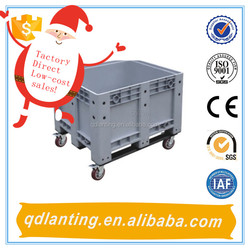 plastic bins with wheels for industry /plastic bin for fruit and vegetable