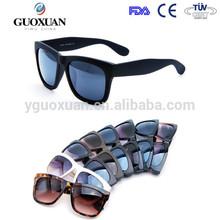 Promocional pintura de caucho de china proveedor gafas de sol wayfarer