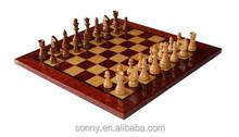 Popular International Chess board Solid Mahogany Game