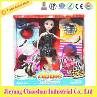 Pretty Big Head Fashion Girl Doll With Doll Accessories