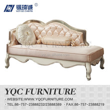 9219# hot sale eruo style antique royal wooden carved leather chaise