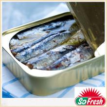 Product progress of canned sardine