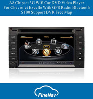 6.2 inch S100 Car audio player For Chevrolet Excelle With GPS A8 Chipset Dual Core 3G Wifi BT 20 Dics Playing