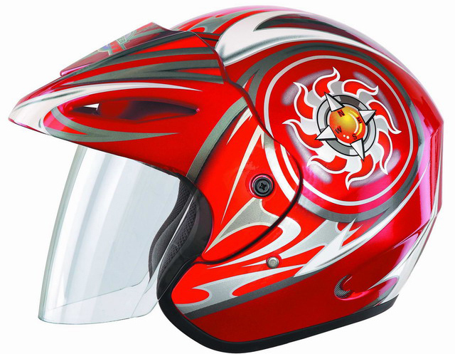Japan style black retro open face motorcycle motor helmet