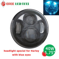 Factory wholesale new round blue eyes 40w 5.75'' led headlight motorcycle with hi low beam