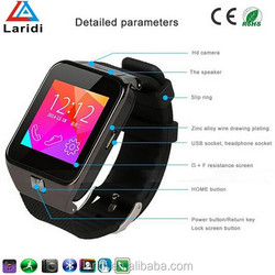 2015 Newest Bluetooth and waterproof GV09 smart watch android dual sim for mobile phone