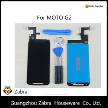 Factory sell white black color lcd digitizer touch screen display assembly For Motorola MOTO G2