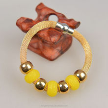 Mesh stardust chain series Colorful plastic bead bangle candy girls jewelry Yiwu