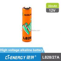 Alkaline Battery Type 12V 27A Size Super Alkaline A27s 12V Battery