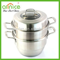 Muti-function stainless steel steam pot/metal steamer/cooking pot