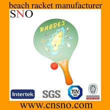 Cheapest & Best Quality Wood/PP/PS Colorful Beach tennis Racket set