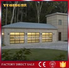 Yqg-02 automatique cadre en aluminium verre porte de garage, Porte de garage joint d'étanchéité