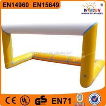 EN14960 durable 0.55mm PVC inflatable soccer goal post for Interest movement