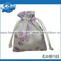 Durable new arrival new style coarse linen pouch