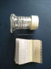 Transparent shrink tamper evident band for cap wrap