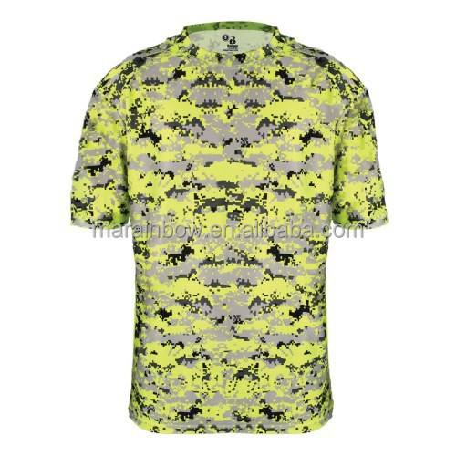 2015 new design wholesale cheap short sleeve dry fit camo