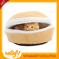 Hot selling pet dog products high quality burger bun pet cat bed