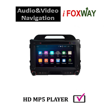 Android 4.4 dvd gps bluetooth usb sd ipod tv dvd radio for sportage 2012
