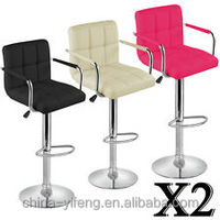 Wholesale modern swivel white leather Bar Stools on Alibaba Express/Cheap used bar chair in bar furniture for sale