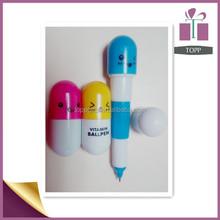 Cute capsule vitamin ball pen