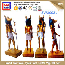 Golden Color Table Sculpture and resin egyptian mascot statue for decor