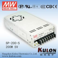 Meanwell 200W 5V Single Output LED Driver