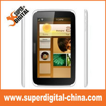 MTK6515 Dual SIM Mobile Phone Android 2.4 OS ,7 inch Quad Band Wifi Smart Phone with TV,Wifi,0.3mp &2.0mp Camera