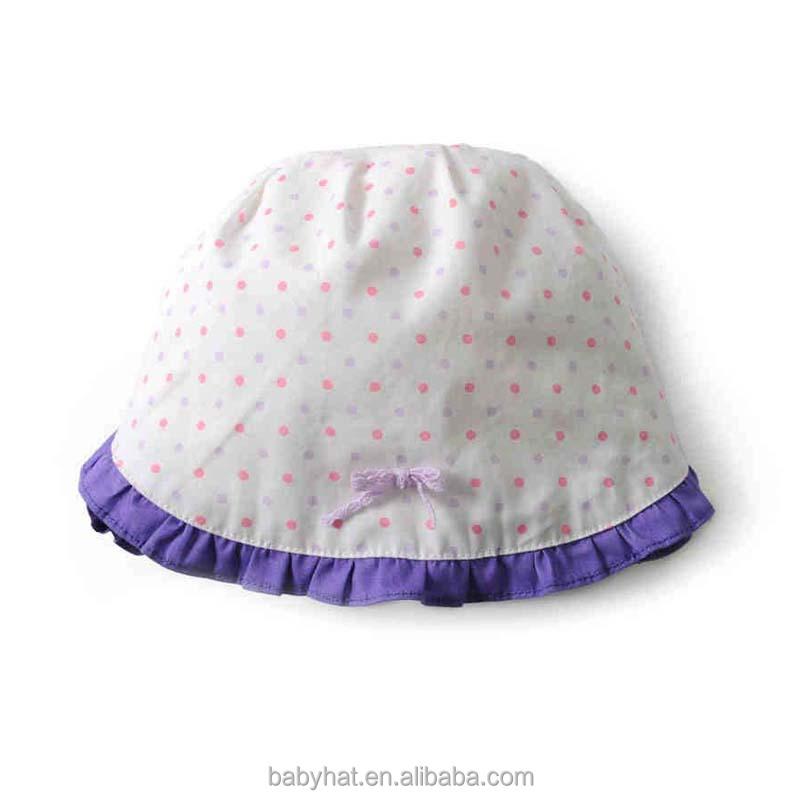 el bebé lactante niños niñas flounced volante volantes sombrero para ...