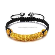 SRB0017 Fashionable Jewelry Yellow Ceramic Beads Bracelet Soft Pottery Cuff Customized Ceramic Beads Bracelet