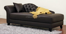 Brown victorian modern chaise lounge