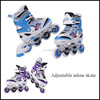 Four wheel adjustable kids inline skate shoes